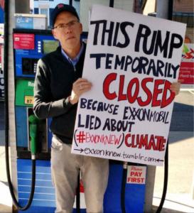 Bill McKibben Falter at Gas Pump